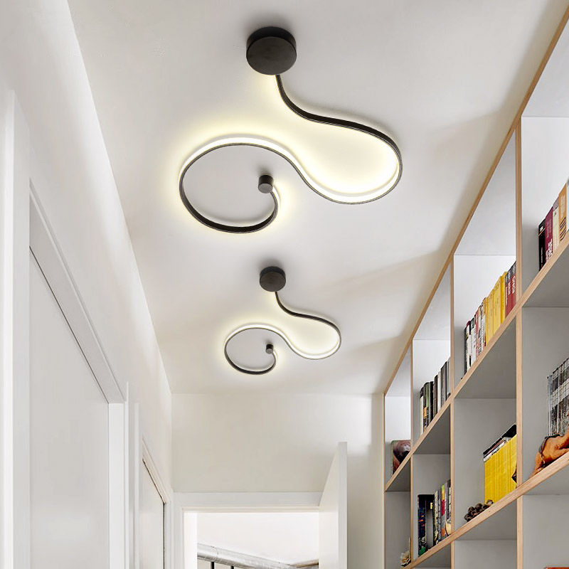 Wall light foyer led sconce snake-shaped wall Lamp Ceiling lamps Modern Lustre Wand lamp Ceiling Line light led fixtures living