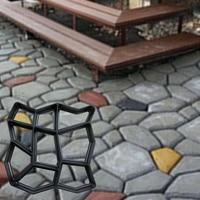 DIY Plastic Path Maker Mold Manually Paving Cement Brick Molds Stone Road Concrete Molds Garden Pavement Tool