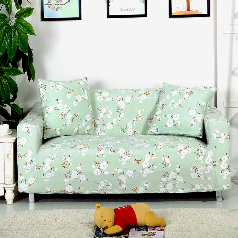 Attractive Floral Sofa Covers Single Double Three Four Seat Elastic Couch Cover  Polyester Fabric Cover Sofa,