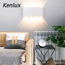 Nordic oświetlenie naścienne led Ip65 aluminium Outdoor Indoor Up Down kinkiety nowoczesne do domu schody sypialnia nocne oświetlenie łazienki w Zewnętrzne lampy ścienne od Lampy i oświetlenie na