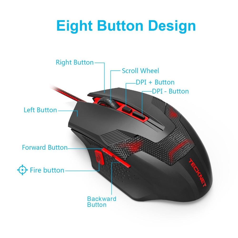 """""""TeckNet RAPTOR Pro"""" programuojama žaidimų pelė, 8 mygtukai, - Kompiuterių periferiniai įrenginiai - Nuotrauka 3"""