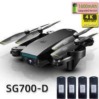SG700D quadrirotor dron drones avec caméra hd mini drone rc hélicoptère 4k jouets professionnel drohne com caméra quadrocopter course
