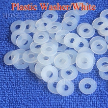 M2 M2.5 M3 M4 M5 M6 M8 M10 M12 White Plastic Nylon Washer Plated Flat Spacer Seals Washer Gasket Ring O Ring Gasket Washers 1pcs m6 12 1 2 white 100pcs nylon washer plastic flat spacer washer thickness circular round gasket ring high quality circular