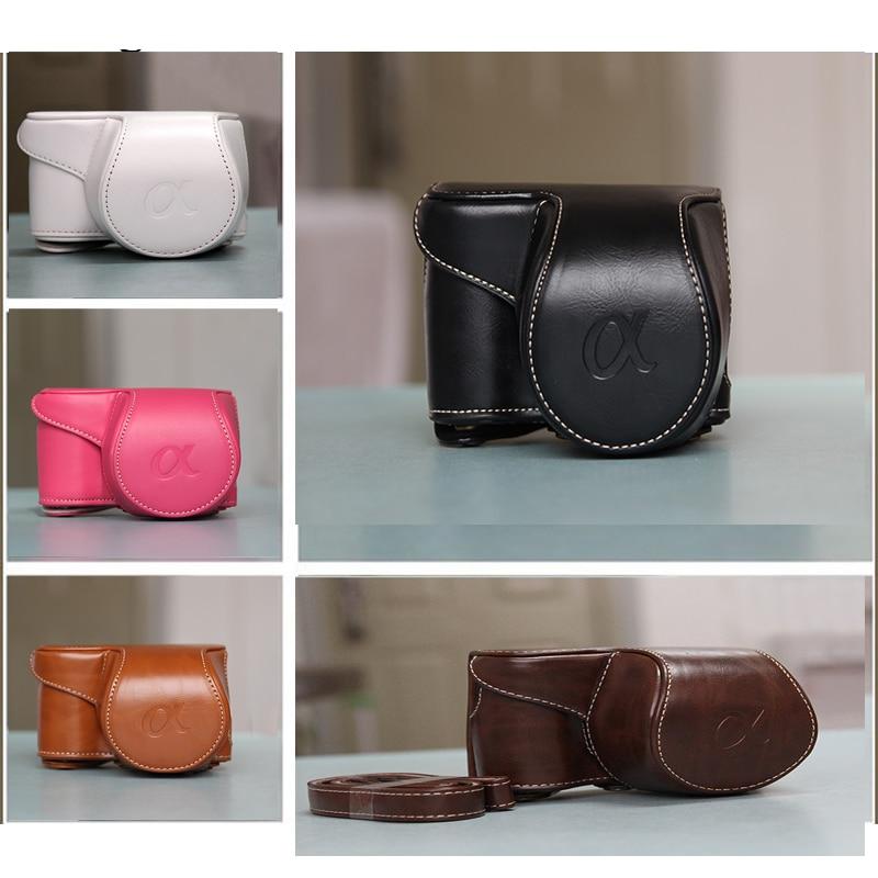 Hohe qualität Vintage PU leder Kamera Tasche Fall Abdeckung Tasche für Sony A5000 A5100 A6000 A6300 Kamera