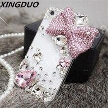 XINGDUO Rhinestone Diamond Cover Case for Samsung galaxy S8 9 S10 Plus Lite/J5 2017/Luxury Bling Big bow crystal Jewelled