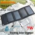 ¡ CALIENTE! 7 W Cargador de Panel Solar Plegable Cargador Solar Para El Teléfono Móvil USB Bolso de la Carpeta Para El Teléfono Móvil de la Energía Del Cargador de Batería banco