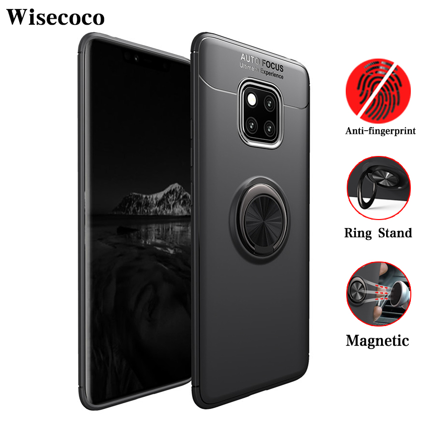 Case for Huawei P20 P30 <font><b>Mate</b></font> <font><b>20</b></font> 10 9 Pro P10 P9 P8 <font><b>Lite</b></font> Plus Nova 3 3i Car Holder Stand Magnetic Ring Cover Honor 8x Max Note 10 image