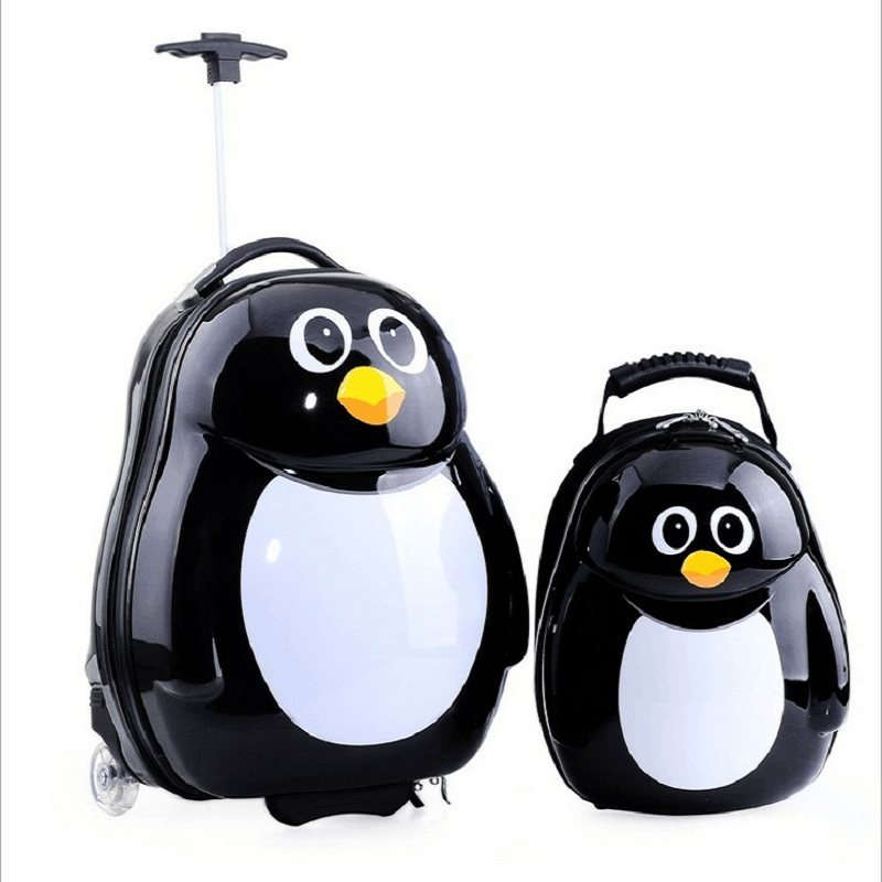 2PCS/Set child anime School bag Tourism boy luggage suitcase animal cartoon 17 inch travel trolley case Boarding box kids gift 21 inch students scooter suitcase boy cool trolley case 3d extrusion high quality pc separable travel luggage child boarding box