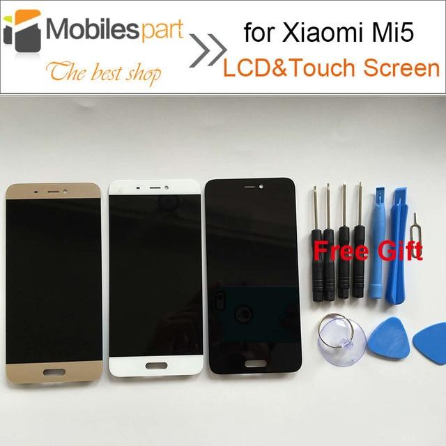 $ Number ''$ number nuevo reemplazo pantalla lcd para xiaomi mi5 5.15 accesorios pantalla lcd + pantalla táctil para xiaomi mi5 m5/mi5 pro/mi5 primer