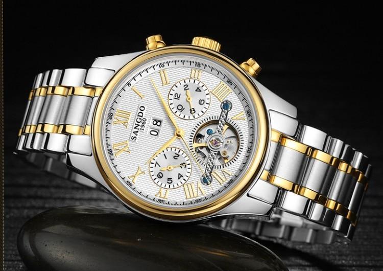 купить 40mm Sangdo Business watch Automatic Self-Wind movement Sapphire Crystal High quality Mechanical Wristwatches Men's watch 0001 по цене 4104.54 рублей