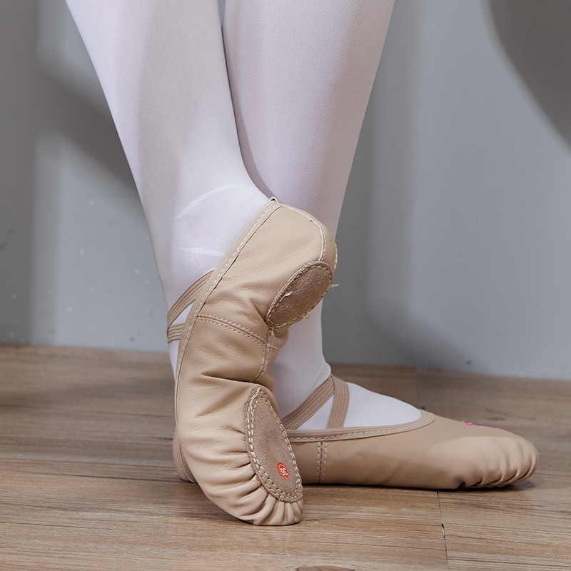 Zapatos de baile calzado de ballet chicas para niñas niños zapatos de baile de alta calidad zapatillas de baile zapatos de bailarina de suela de cuero