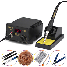 YIHUA 937D High Quality Temperature Control Digital Soldering Station Rework Stations 110V/220V 45W Pluggable Hot Air Gun
