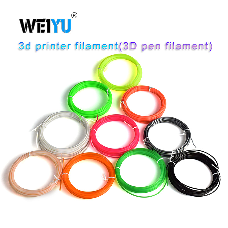 Plastic for 3d Pen 5 Meter PLA/ABS 1.75mm 3D Printer Filament Printing Materials Extruder Accessories Parts Transparent White(China)