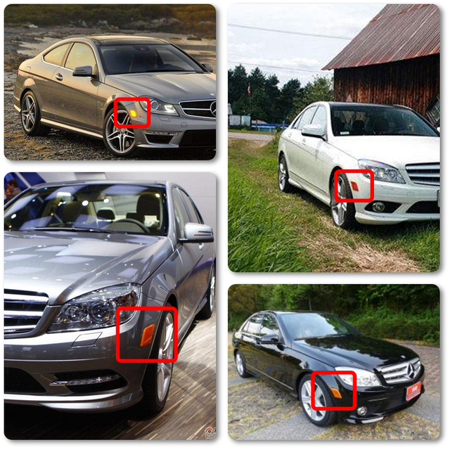 Front CANBus Amber Led Side Marker Light Turn Signal Lamp For Benz W204 US C300 C350 C63 AMG SL65 AMG Car-Styling Smoke Clear