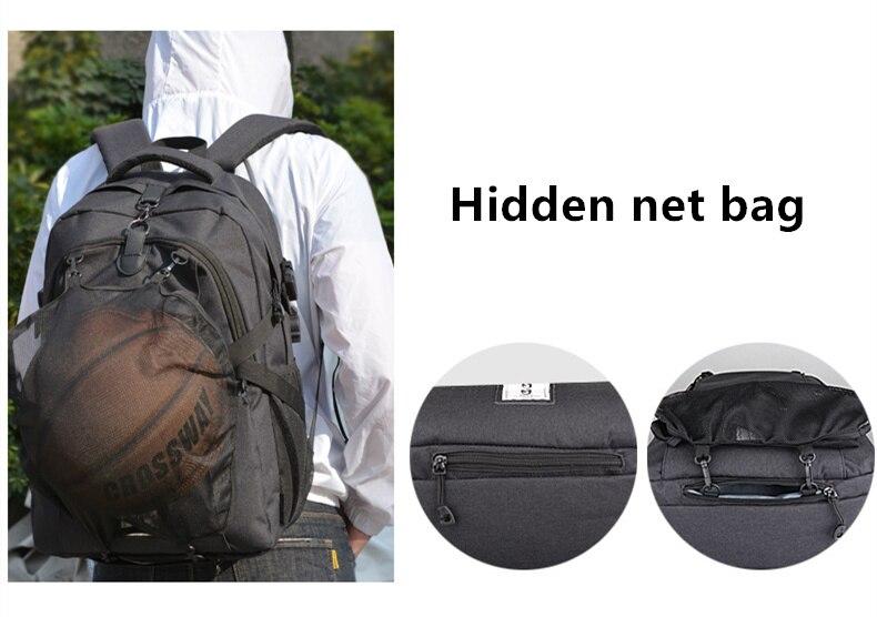 Мужской спортивный рюкзак для баскетбола и футбола, школьная сумка для подростков, для мальчиков, для футбольного мяча, для ноутбука, футбольной сетки, для тренажерного зала, баскетбольные сумки-4