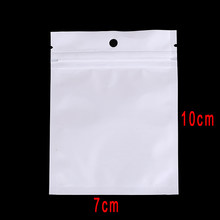 100Pcs Waterproof Zipper Plastic Bags Packaging Pouches 7 x 10cm 6 x 22cm 9 x 16cm Ziplock Zip Lock Bags Package With Hang Hole(China)