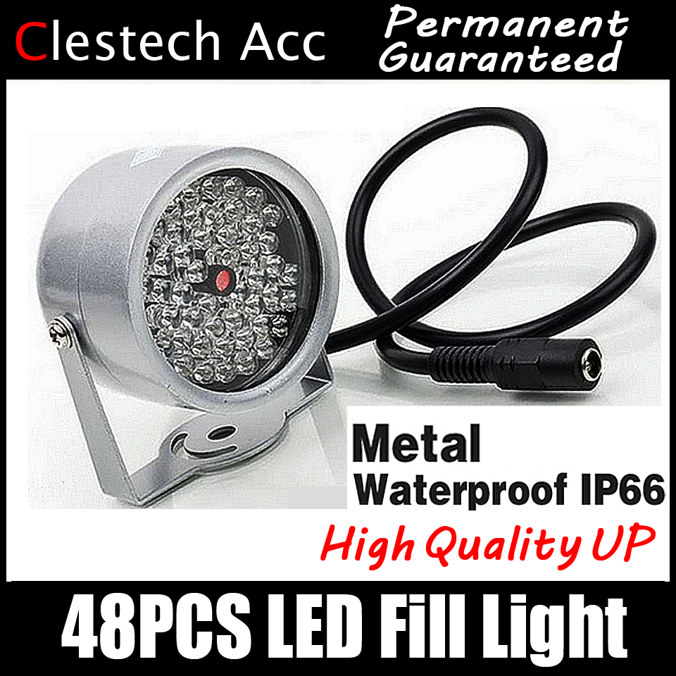 48LED 조명기 IR 적외선 돔 hd 야간 투시경 강화 필 라이트 비전 40M 램프 보안 850nm 12V