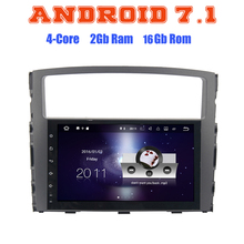 Android 7.1 Quad core car radio gps no dvd for Mitsubishi pajero V97 V93  with 2G RAM wifi 4G USB radio RDS audio stereo SAT