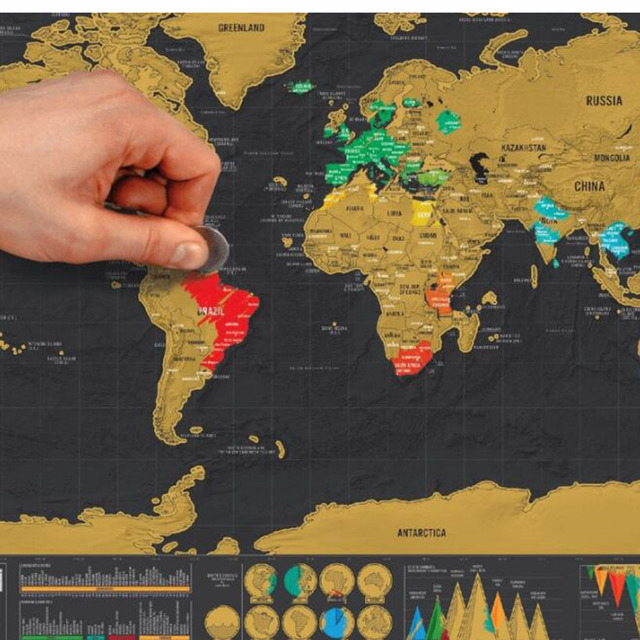 Scratch Off World Map With Us States.Diy Unique Classic Travel World Map Wall Sticker Scratch Off Word