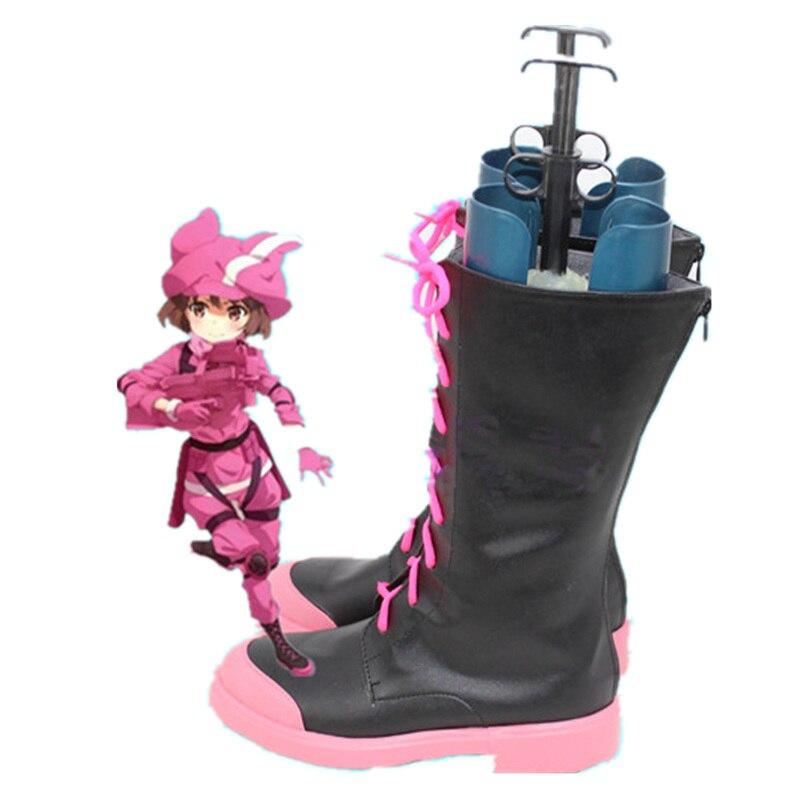 Sword Art Online Alternative GGO Cosplay Shoes Gun Gale Online Llenn Boots