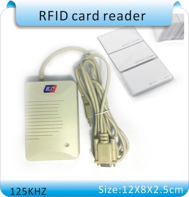High quality unionpay YLE406 RS232 port 125KHz RFID Proximity ID Card Reader , decimal, hexadecimal, +10pcs