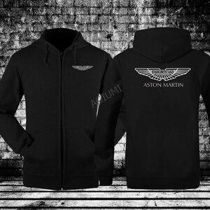 Fashion men Hoodies Aston Martin sweatshirt Autumn Winter Coat Long Sleeve Hoodies Casual hooded coats(China)