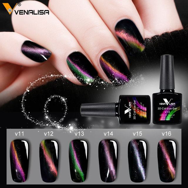 0venalisa Led Cat Diy Farbe 3d Linien Nagellack Farben Vom Eye Uv Gel Unterschied Tränken Bling Weg Polish Nagel In 2 Us3 H9WE2IDY