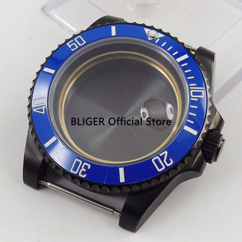 Sapphire Crystal 40mm Blue Ceramic Bezel Stainless Steel Watch Case Fit For ETA 2836 Automatic Movement C1Sapphire Crystal 40mm Blue Ceramic Bezel Stainless Steel Watch Case Fit For ETA 2836 Automatic Movement C1