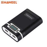 HAWEEL DIY Power Bank Box 4x18650 Battery 10000mAh shell with 2xUSB Output&Display for iPhone,Smartphone without Battery 5V