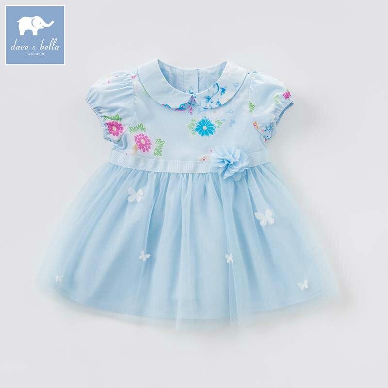 где купить Dave bella Princess floral girls dresses children summer party wedding clothes baby cute costumes infant toddler gown DBJ7714 по лучшей цене