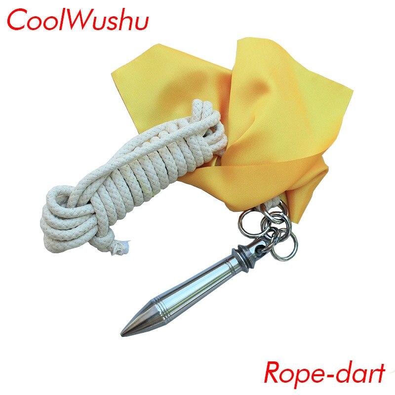 Distingué Météore Marteau Corde Dard Chinois Kungfu Art Martial Arme Envoyer 4 Mètres De Corde Et Tissu De Couleur Coolwushu