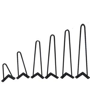 4 قطعة 4-10 بوصة المعادن دبوس الجدول مكتب الساق الصلبة الحديد سلك دعم الساق ل أريكة مجلس الوزراء الكراسي DIY حرف يدوية أثاث