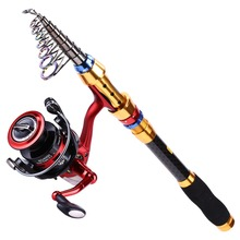 Sougayilang 1.8-3.0M Telescopic Rod and 13+1BB Reel Set Bass Hard Fishing Rod of 99% Carbon Materials Carp Fishing Combo Kit
