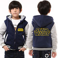 Childrens Hoodie Winter Star Wars Thicken Fleece Darrh Vader Coat Luminous Unisex US EU Size