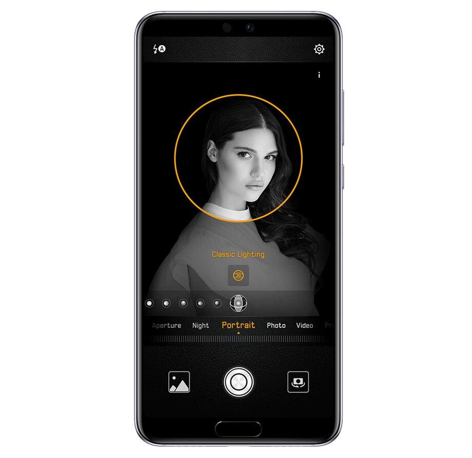 Huawei smartphone p20, android 8.1, 6g ram, 64g/128g rom, kirin 970, face id 5.8 tela de visão completa emui 8.1 câmera frontal 24mp
