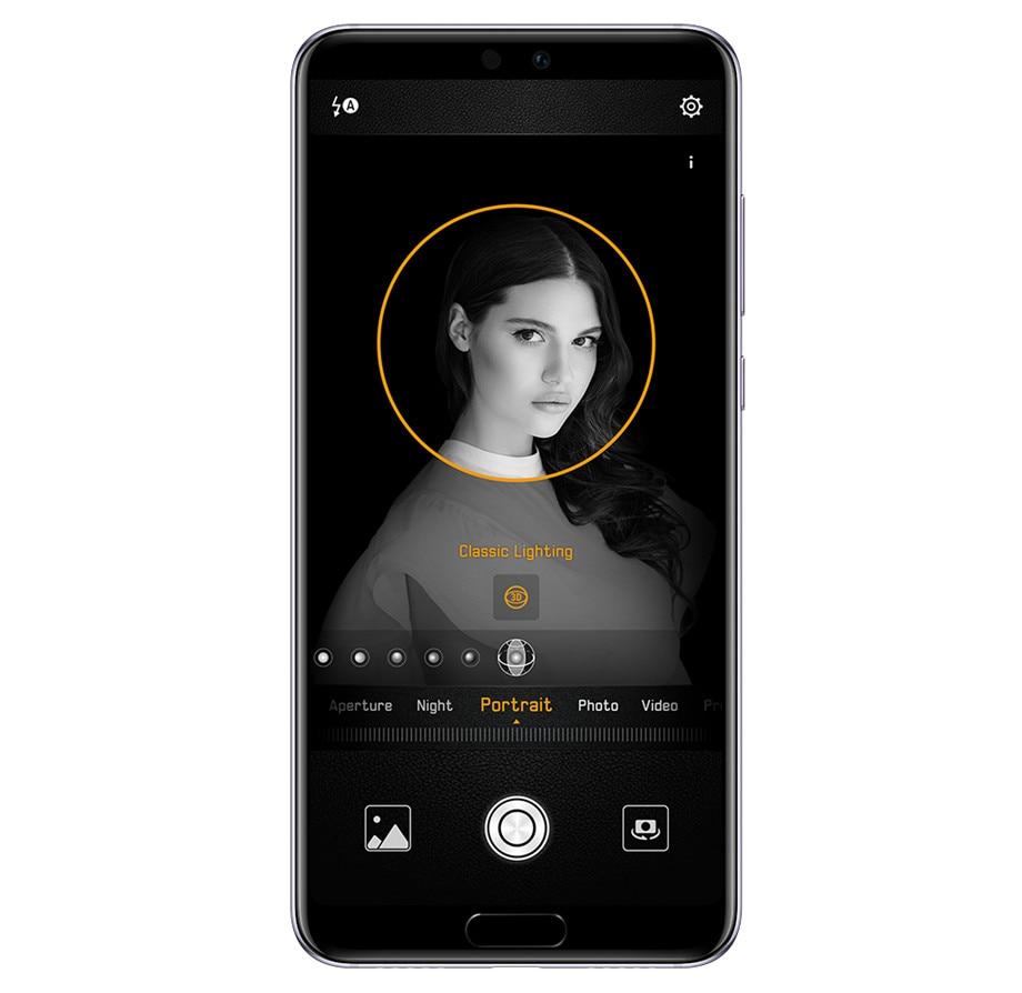 Lager Huawei P20 Smartphone Android 8,1 6G RAM 64G/128G ROM Kirin 970 Gesicht ID 5.8 voll Ansicht Bildschirm EMUI 8,1 24MP Vorne Kamera