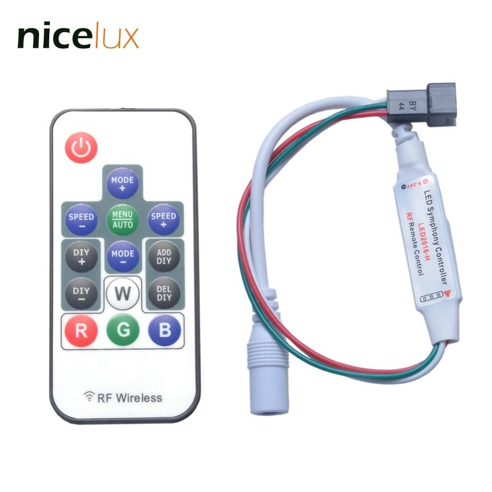 10-Pack LED RGB indirizzabile digitale 5 mm attraverso-Foro