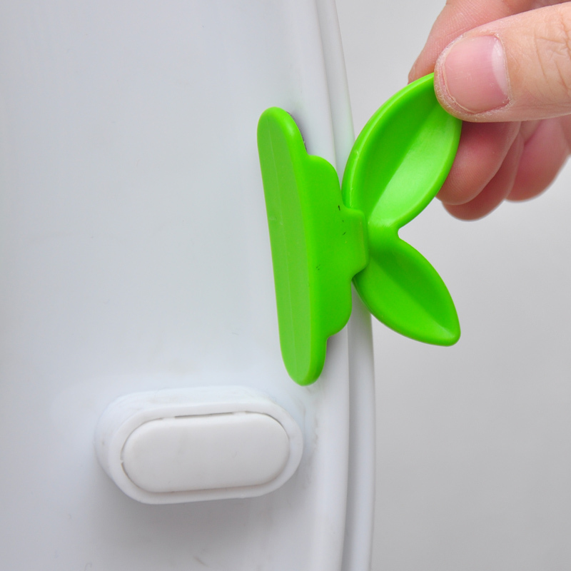 1pcs Short Type Green Cool Creative Leaf shape Toilet Seat Cover Lid ...