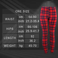 Yesello Casual Polyester Women's Leggings High Elastic Legins Fitness Nine Pants Plaid Clothings aptitud Legging For Women