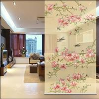New Chinese Style Hanging Screen Soft Cut Entrance Shutter Door Curtain Creative Roller YuLan Chunyan Biombo