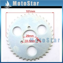 29mm 38 Tooth T8F Mini Moto Steel Rear Chain Sprocket For Chinese 2 Stroke 43cc 49cc Engine Kids ATV Pocket Bike Goped Scooter(China)