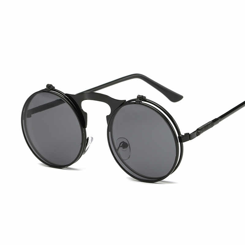 36f185a2ebf ... Classic Round Sunglasses Men Small Vintage Retro John Lennon Glasses  Women Driving Metal Eyewear ...