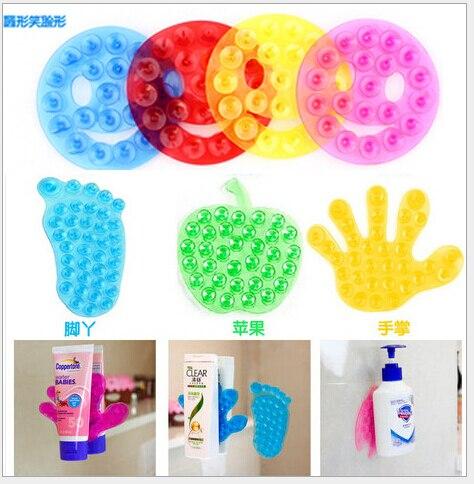 10 pçs/lote New Forte Dupla Face de Sucção Palma PVC Ventosa, Double Magic Plástico Otário Banho
