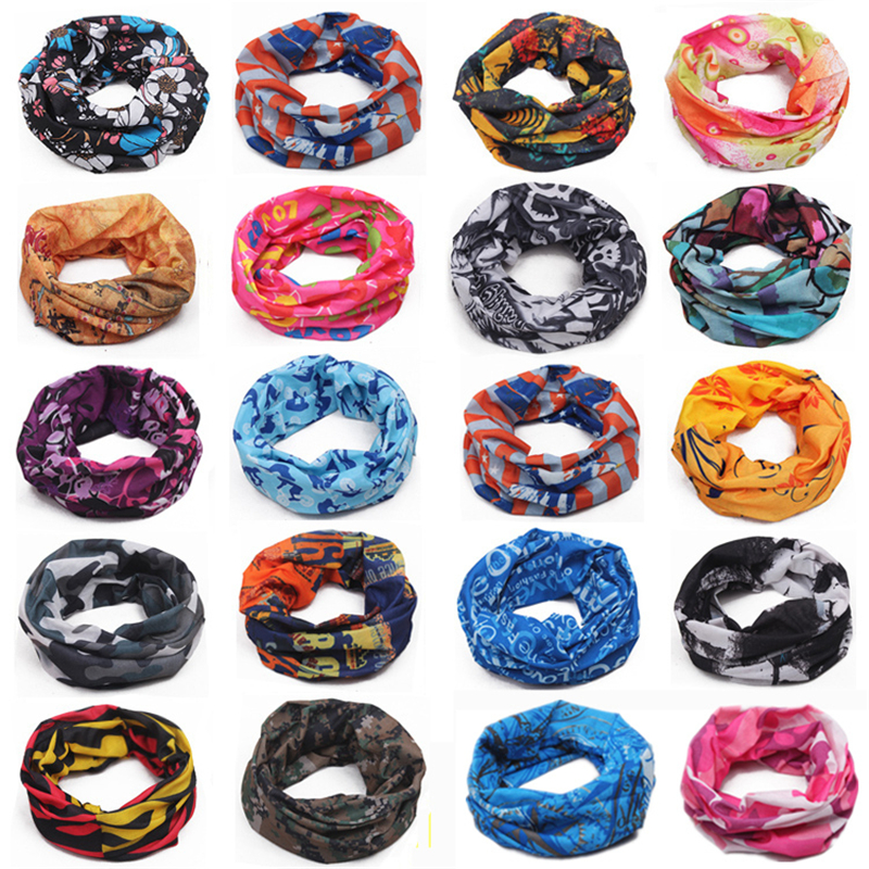 Best New 2018 Outdoor Sports Cycling Mask Bike Riding Variety Turban Magic Bicycle Headband Cycling Scarf Scarves Many Colors