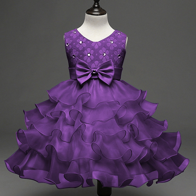Mode Taufe Kleidung Robe De Bapteme Kristall Royal Blue Lila ...