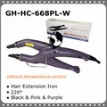 Temperature Constant Fusion Hair Iron / Connector GH-HC-668PL-W Purple Color, Free Shipping
