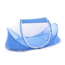 Hot Sale Cute Baby Crib Portable Type Comfortable Babies Pad with Sealed Mosquito Net Travel Baby Mosquito Net Baby Bedding