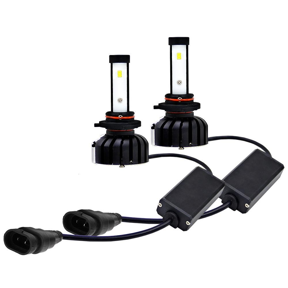 Vehemo 2 шт. 9006/HB4 светодиодный фонарь для передней фары автомобиля Замена Универсальный сборка осветительного оборудования Автомобильные светодиодные фары лампы