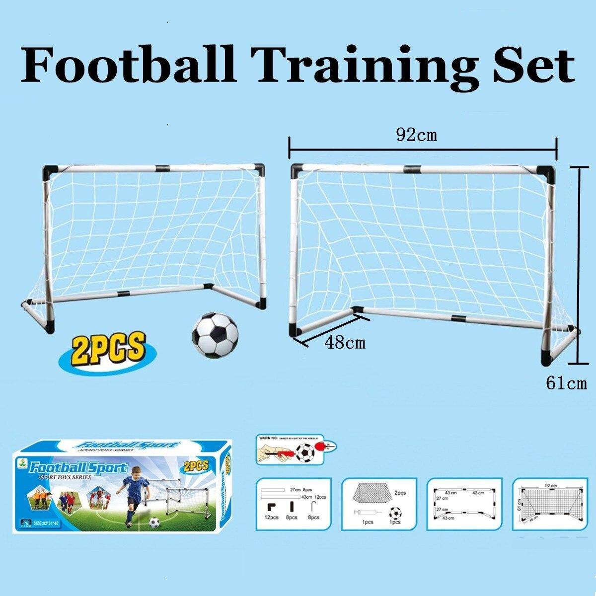 FAI DA TE Per Bambini Sport Calcio Obiettivi con Pallone Da Calcio 2 in 1 Calcio Calcio Formazione Obiettivi Practise Junior Set Giocattolo Per Bambini regalo