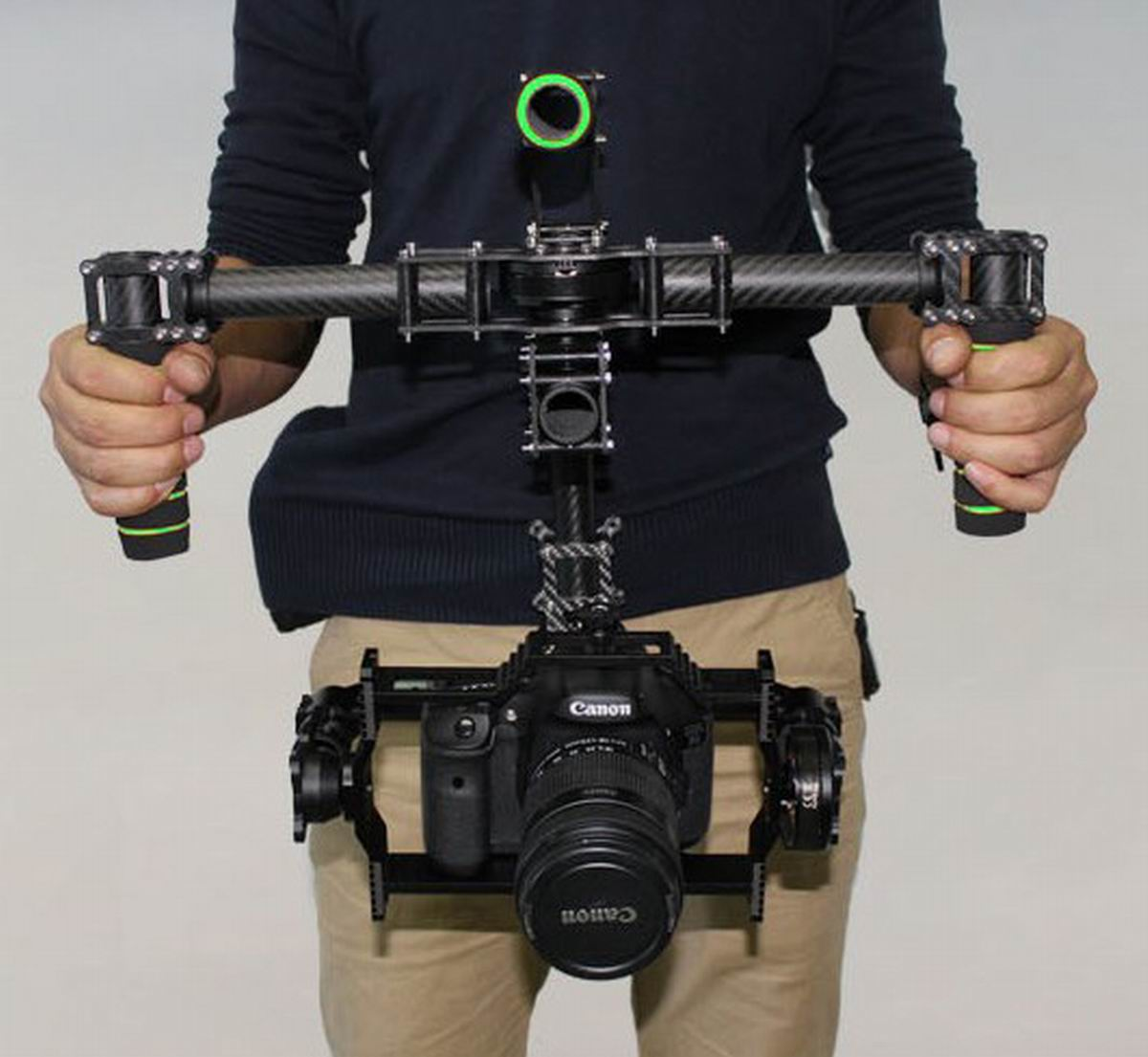 DSLR Handle Camera 3 Axis Brushless Gimbal Carbon Mount + 32 bit AlexMos Controller + 3 Motor CANON 5D MarkII D900 etc. цена
